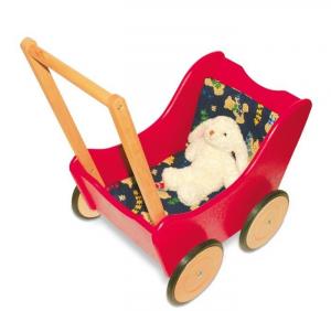 Carrozzina passeggino per bambole in legno