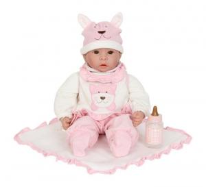 Bambola Emilia con ciuccio tutina berretto e biberon gioco bambine