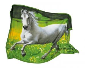 Coperta supermorbida Cavallo per divano o letto