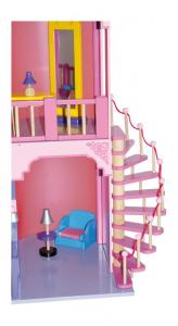 Casa delle bambole Castello incantato in legno giocattolo per bambine