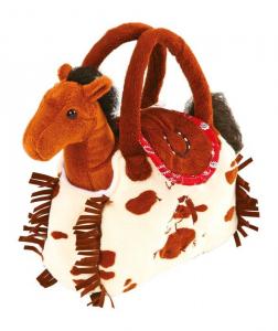 Borsa in stoffa con peluche Pony cavallo Borsetta bambina