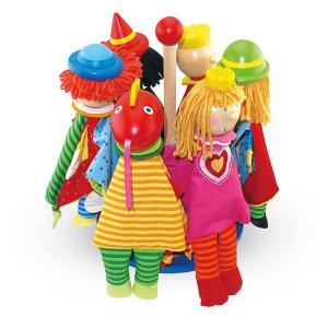Marionette per le dita personaggi favole 6 pezzi Legler 10240