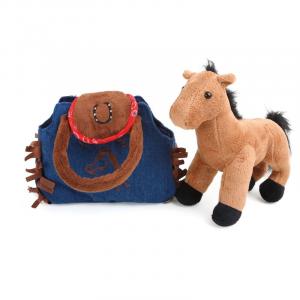 Peluche Pony nella borsa ?Western? Legler 10277