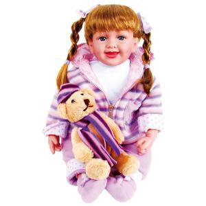 Bambola Giocattolo Jasmin con vestiti e orsetto