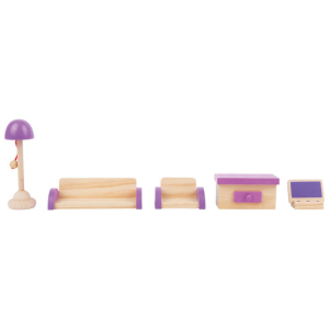 Casa delle bambole mobili in legno per il Salotto