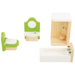 Casa delle bambole mobili in legno per il Bagno