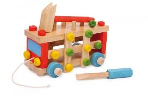 Automobile/auto costruibile in legno gioco didattico per bambini