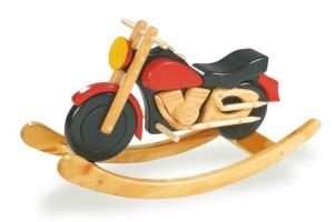 Moto a dondolo Easy Rider in legno gioco per bambini