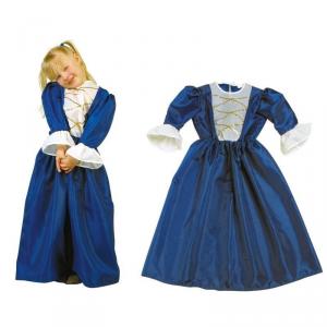 Costume - Vestito Carnevale Bambina 4 - 8 anni Principessa Blu