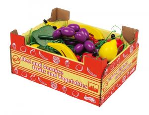 Cassetta con frutta in legno gioco per bambini complemento bancarella