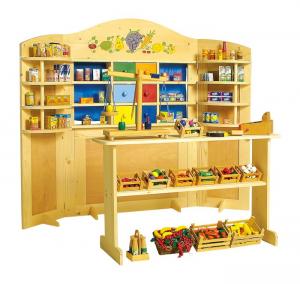Teatrino per burattini e negozio bancarella gioco per bambini