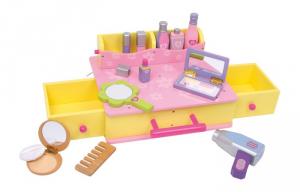 Valigetta con cosmetici in legno gioco per bambine