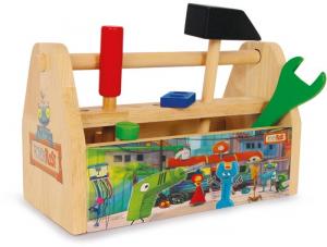 Cassa utensili con accessori Ritter Rost il cavaliere Ruggine in legno gioco per bambini