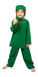 Costume carnevale vestito da chirurgo per bambini da 4 a 10 anni