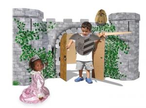 Castello dei cavalieri in cartone Avalon gioco bambini