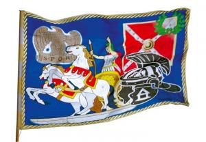 Bandiera dei romani accessorio costume carnevale per bambin