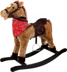 Cavallo Pony a dondolo Western canta e muove la boccagioco bambini