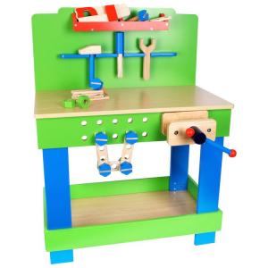 Banco da lavoro in legno officina giocattolo per bambini con accessori