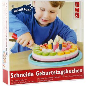 Torta compleanno al taglio in legno colorato Gioco bambini in cucina