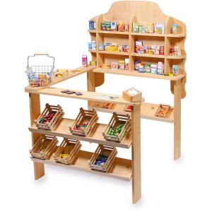 Gioco bambini Negozio bancarella mercatino con bancone in legno Legler 6953