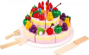 Torta di compleanno da tagliare in legno accessorio cucina gioco bambini