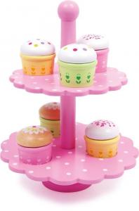 Muffins in legno espositore negozio gioco accessori cucina per Bambini
