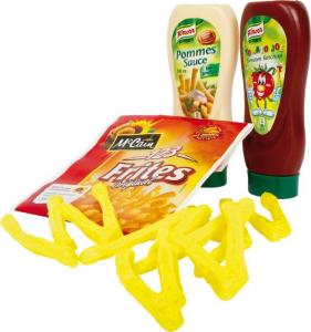 Patatine con ketchup e maionese accessori gioco cucina per Bambini