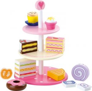 Leccornie con vassoio in legno vasto assortimento di dolci gioco bambini