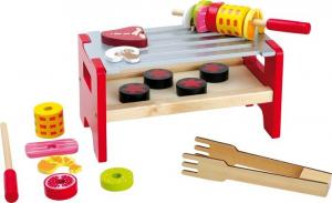 Barbecue da tavola in legno spiedo con accessori Gioco bambini