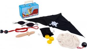 Set valigia con accessori per travestimento pirati carnevale o feste bambini