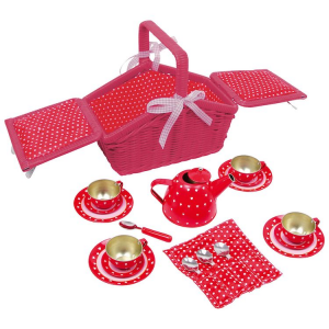 Cestino da picnic bambini con servizio da tè Sarah Legler 5303