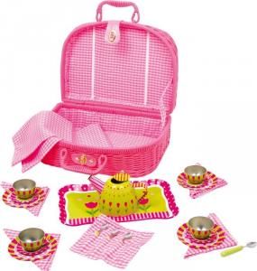 Cestino da picnic con servizio da tè gioco per bambine