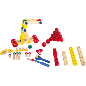Set costruzioni in legno colorato gioco bambini VITI