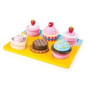 Cupcakes e torte da tagliare in legno Accessorio cucina Legler 10149