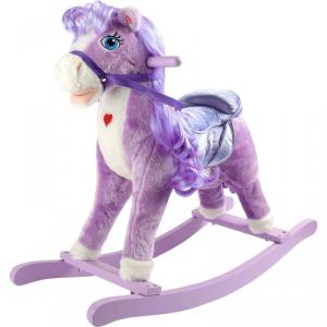 Cavallo Pony a dondolo lilla gioco per bambini Legler 10284