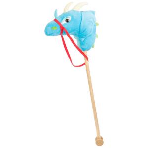 Cavalluccio in tessuto e stecca in legno Drago Azzurro gioco per bambini Legler 10820