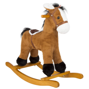 Cavallo a dondolo per bambini con sella