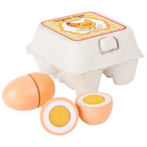 Uova in legno accessori gioco cucina per Bambini complemento bancarella