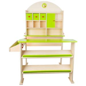 Bancarella Mercatino in legno Giorno di mercato Gioco per bambini