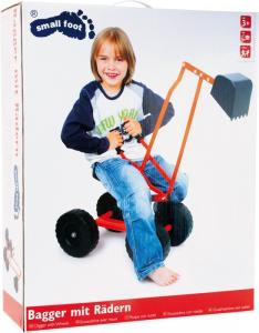 Veicolo ruspa con ruote per bambini in metallo Gioco giardino esterno