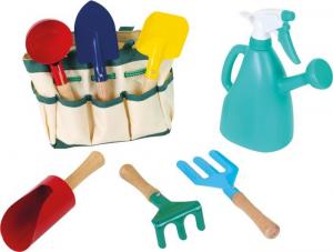 Borsa tessuto giardinaggio con accessori in legno e metallo gioco bambini