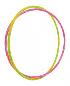 Hula Hoop colori neon con suoni giocattolo bambini Set da 2