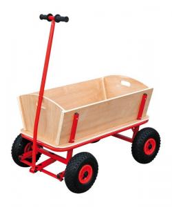 Carretto da tirare tipo Radio Flyer per gite in legno e ruote gommate