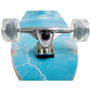 Longboard skateboard in legno con ruote e assi mobili Legler 4092