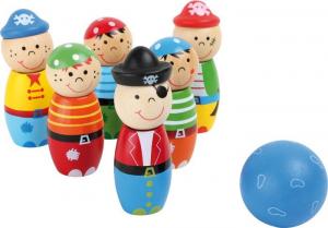 Birilli in legno Pirati Gioco per giardino Bowling per bambini