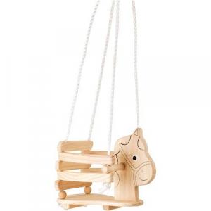 Altalena per bambini in legno Cavallo Gioco per giardino