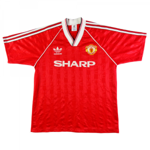 94ad79ad1 1988-90 MANCHESTER UNITED SHIRT HOME L