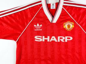 1988-90 Manchester United Maglia Home L