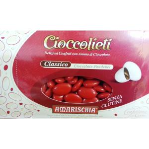 Confezione 1 Kg confetti Cioccolieti Amarischia colore rosso