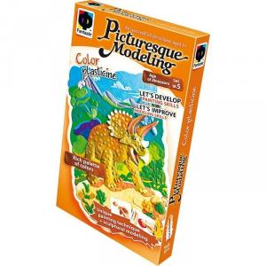Set bricolage plastilina  x modellare i dinosauri Triceratops gioco bambini